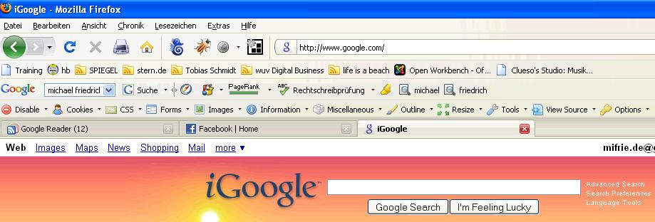 iGoogle als Default-Google-Seite
