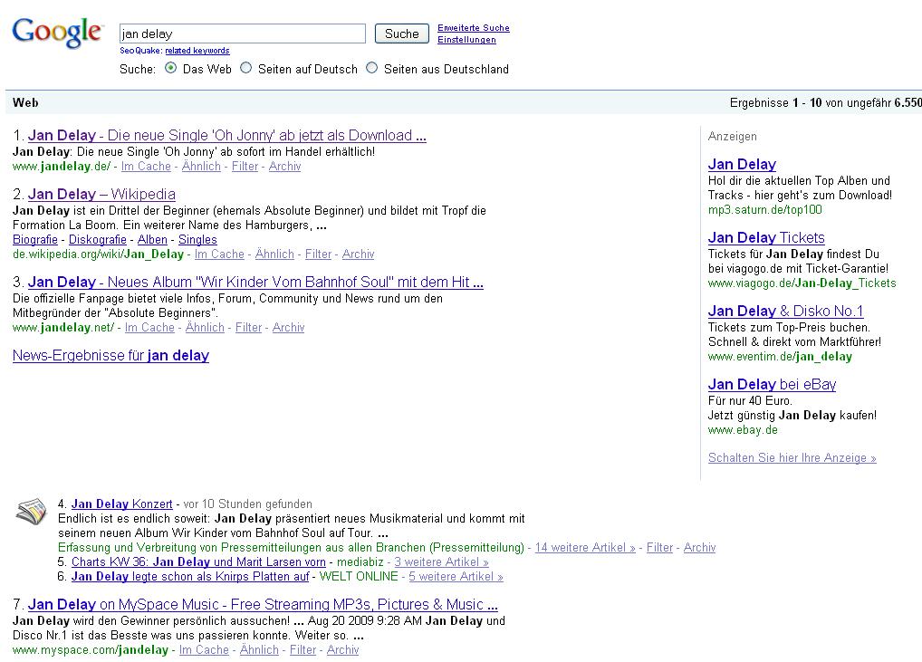 Hat Google News Probleme mit AdWords?