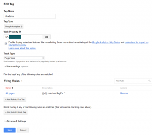 GA Tag in Google Tag Manager