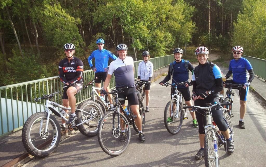 Eschebiker auf MTB-Tour am Geesthang bei Geesthacht