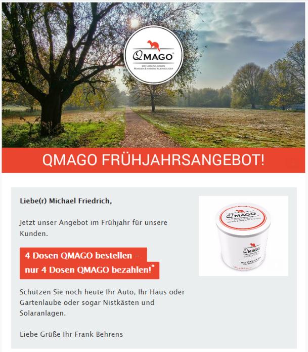 Qmago Marderpaste im Angebot
