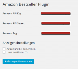 Amazon Bestseller WordPress Plugin