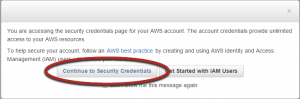 Amazon Security Warning