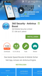 360 Security in Google Play Store