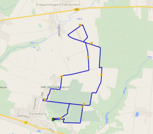 Streckenführung Escheburger Volkslauf